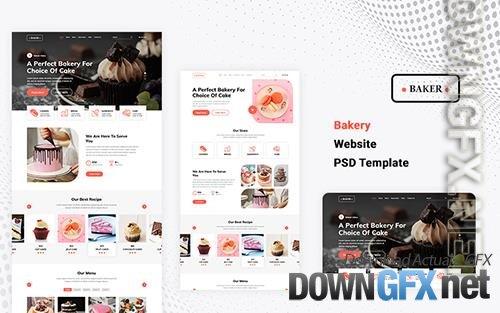 Bakery Website PSD Template