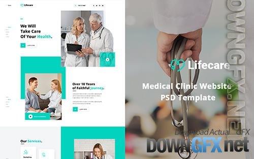 Lifecare - Medical Clinic Website PSD Template
