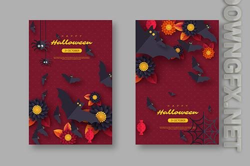 Halloween holiday background vector illustrations