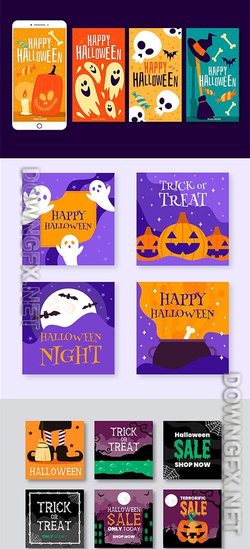 Halloween instagram post collection