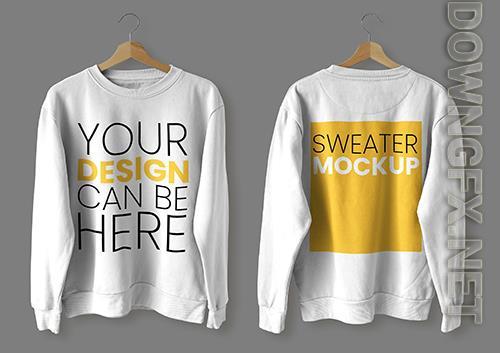 Sweater mockup front back