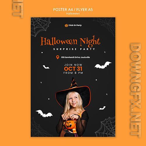 Halloween night poster template