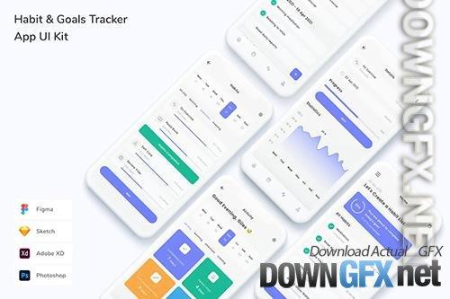 Habit & Goals Tracker App UI Kit