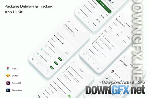 Package Delivery & Tracking App UI Kit