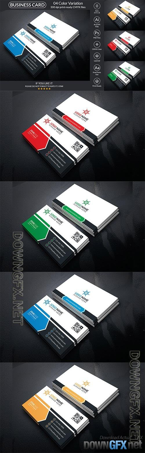 Corporate Business Card With Vector And PSD Corporate Identity