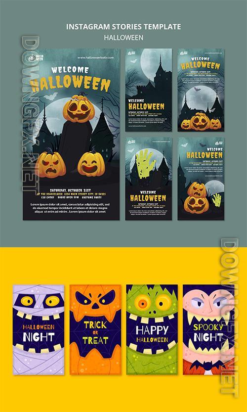 Halloween party instagram stories set