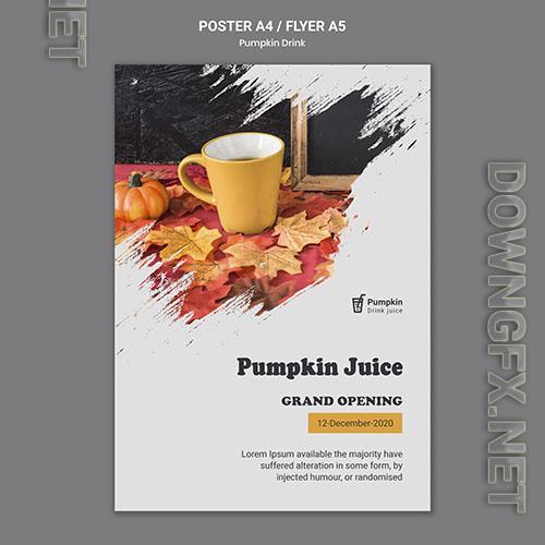 Pumpkin drink poster template