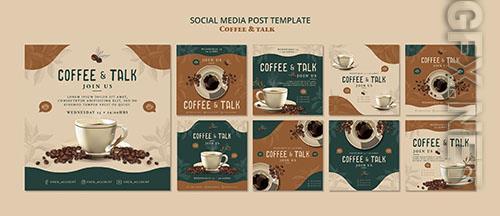 Coffee talk social media post