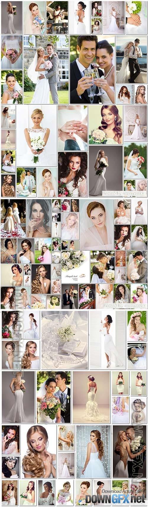100 Bundle beautiful bride and groom, wedding stock photo vol 2