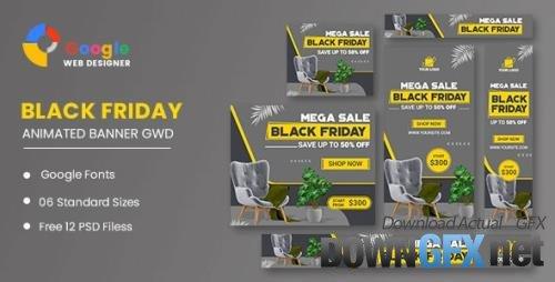 CodeCanyon - Furniture Black Friday Sale HTML5 Banner Ads GWD v1.0 - 34193098