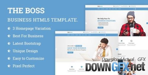ThemeForest - The Boss v2.0.1 - Corporate & Business HTML Template - 19015455