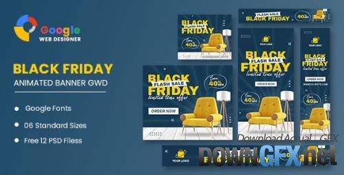 CodeCanyon - Black Friday Sale Furniture HTML5 Banner Ads GWD v1.0 - 34237221