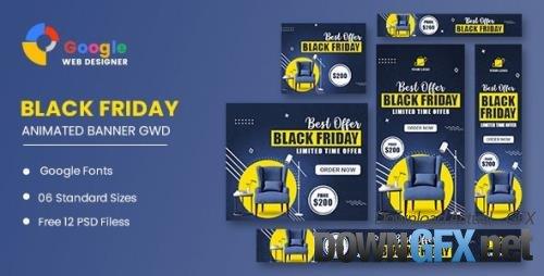 CodeCanyon - Black Friday Sale Banner HTML5 Banner Ads GWD v1.0 - 34237189