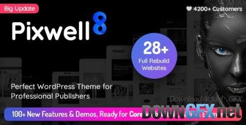 ThemeForest - Pixwell v8.2 - Modern Magazine - 24689900