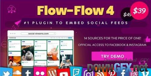CodeCanyon - Flow-Flow v4.8.7 - Facebook Instagram Twitter Feed - WordPress Social Feed Grid Gallery Plugin - 9319434