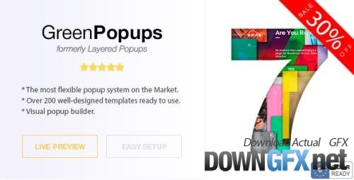 CodeCanyon - Popup Plugin for WordPress - Green Popups (formerly Layered Popups) v7.31 - 5978263