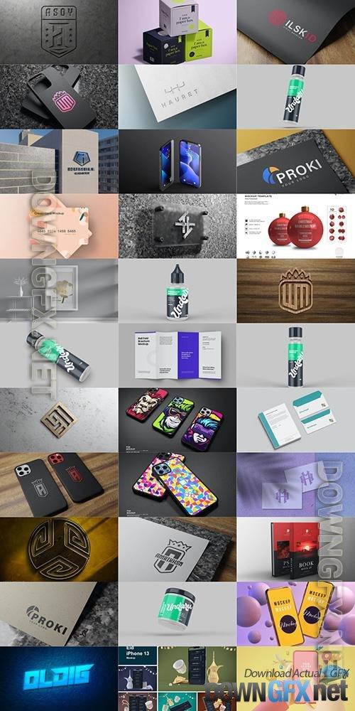 33 Different Mock-ups Bundle PSD