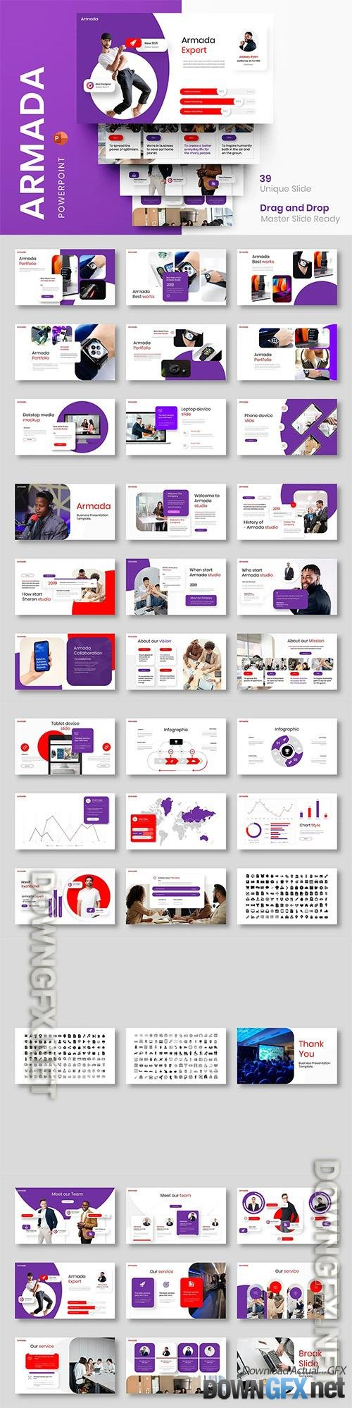 Armada - Business Powerpoint, Keynote and Google Slides Template