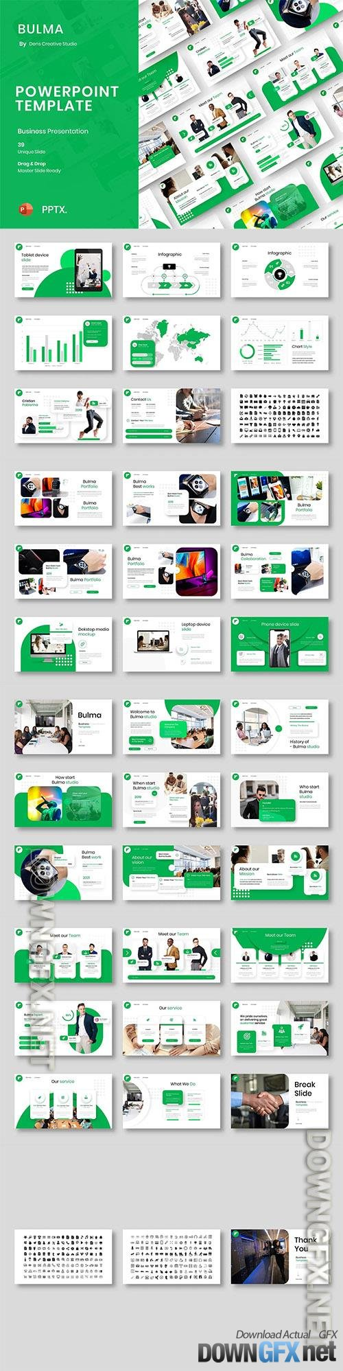 Bulma - Business Powerpoint, Keynote and Google Slides Template
