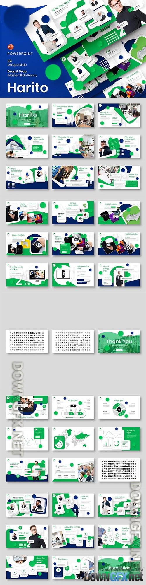 Harito – Business Powerpoint, Keynote and Google Slides Template