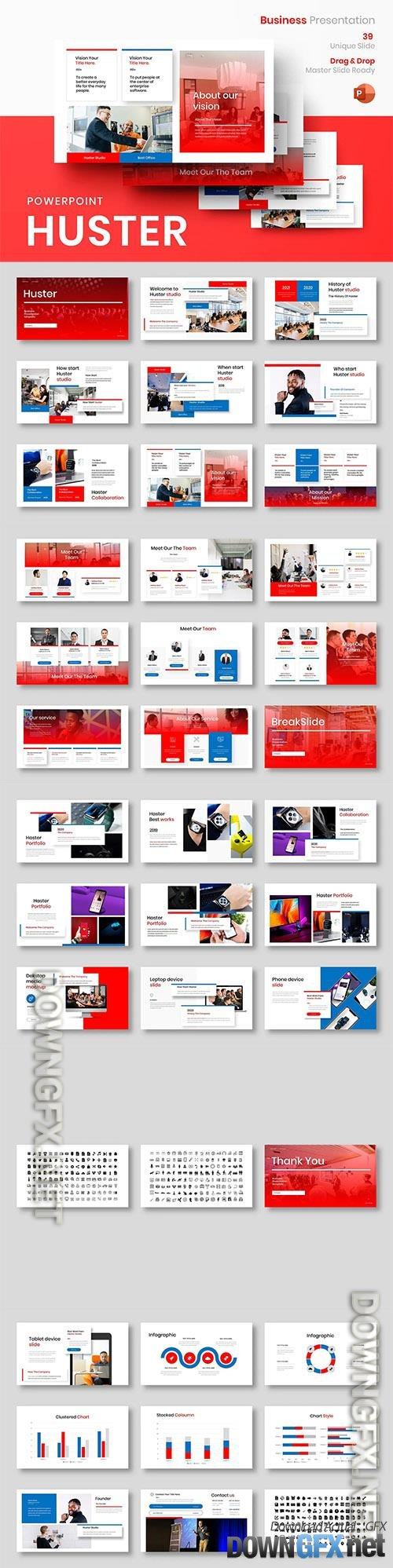 Huster - Business Powerpoint, Keynote and Google Slides Template