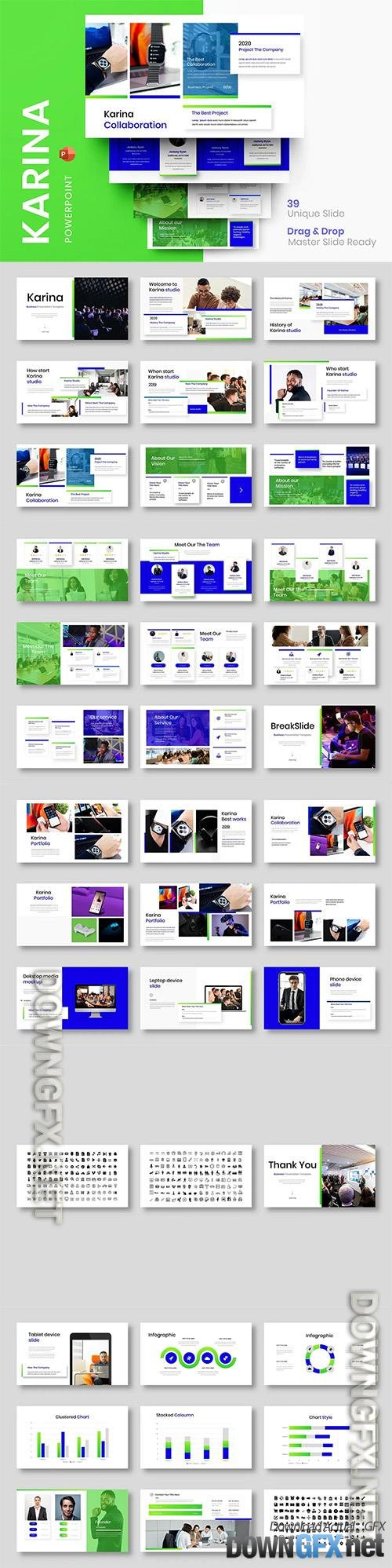 Karina - Business Powerpoint, Keynote and Google Slides Template