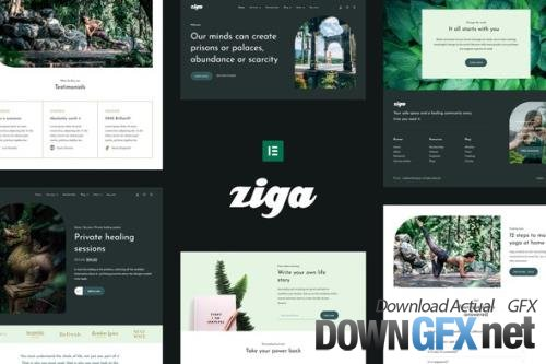 ThemeForest - Ziga v1.0.0 - Healer & Life Coach Elementor Template Kit - 34114849