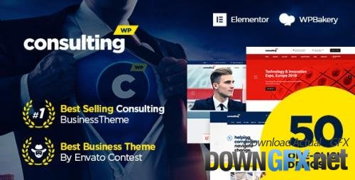 ThemeForest - Consulting v6.2.2 - Business, Finance WordPress Theme - 14740561 - NULLED