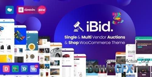 ThemeForest - iBid v3.3.1 - Multi Vendor Auctions WooCommerce Theme - 24923136