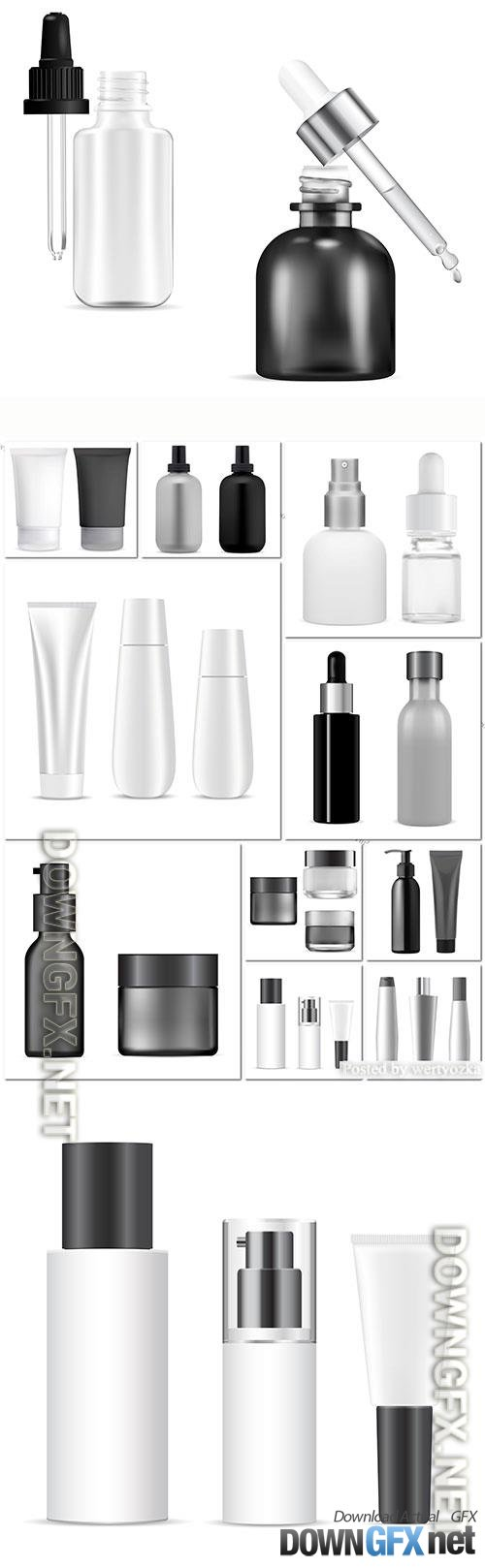 Bottle cosmetic vector package design