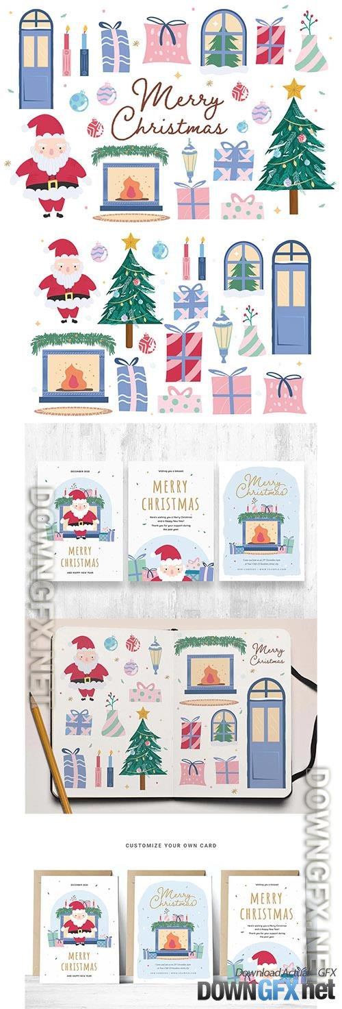 Cute Christmas Clipart Illustrations