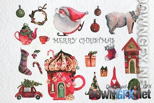 Merry Christmas Watercolor Set