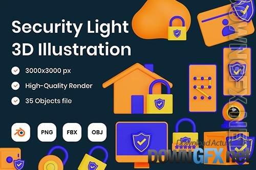 Security Light 3D Illustration