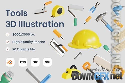 Tools 3D Illustration