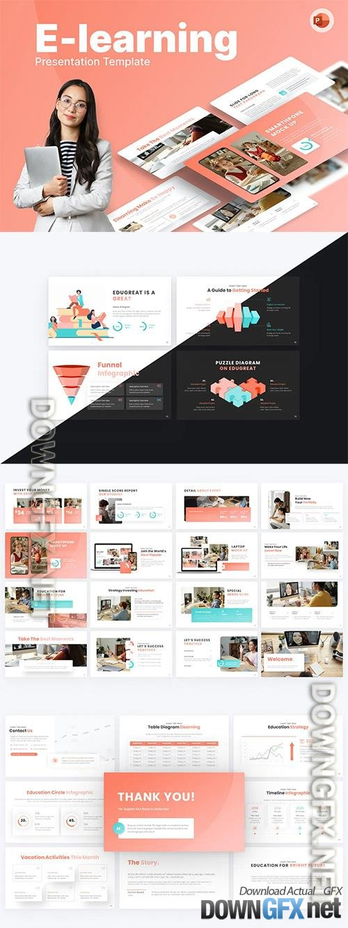 E-Learning Education PowerPoint Template