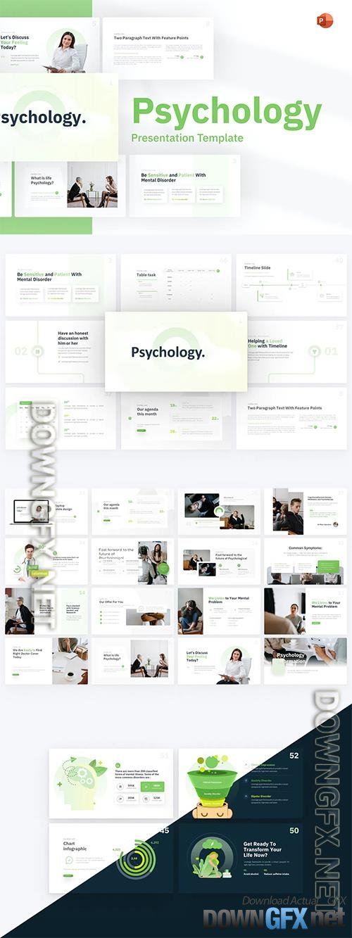 Psychology Healthcare PowerPoint Template