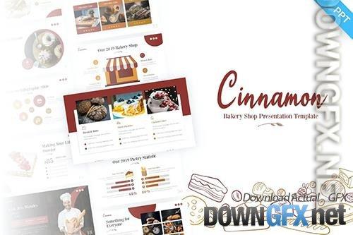 Cinnamon Bakery Food PowerPoint Template
