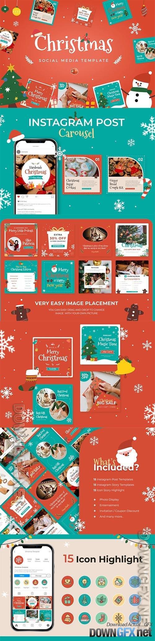 Christmas Social Media Instagram Template Pack