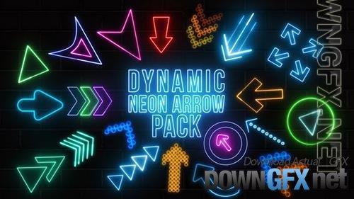 Dynamic Neon Arrows Pack 34200679