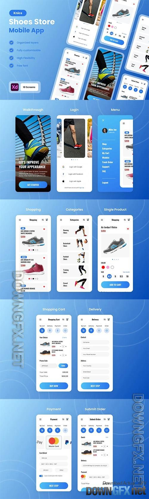 Knic - Shoes & Sneakers Store Mobile App UI Kit