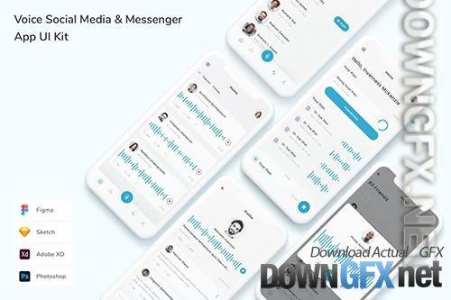 Voice Social Media & Messenger App UI Kit