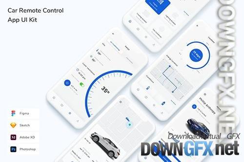 Car Remote Control App UI Kit